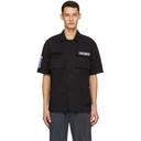 MCQ Black Velcro Short Sleeve Shirt