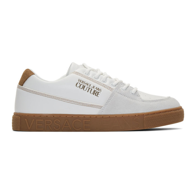 Photo: Versace Jeans Couture White Leather Trainer Sneakers