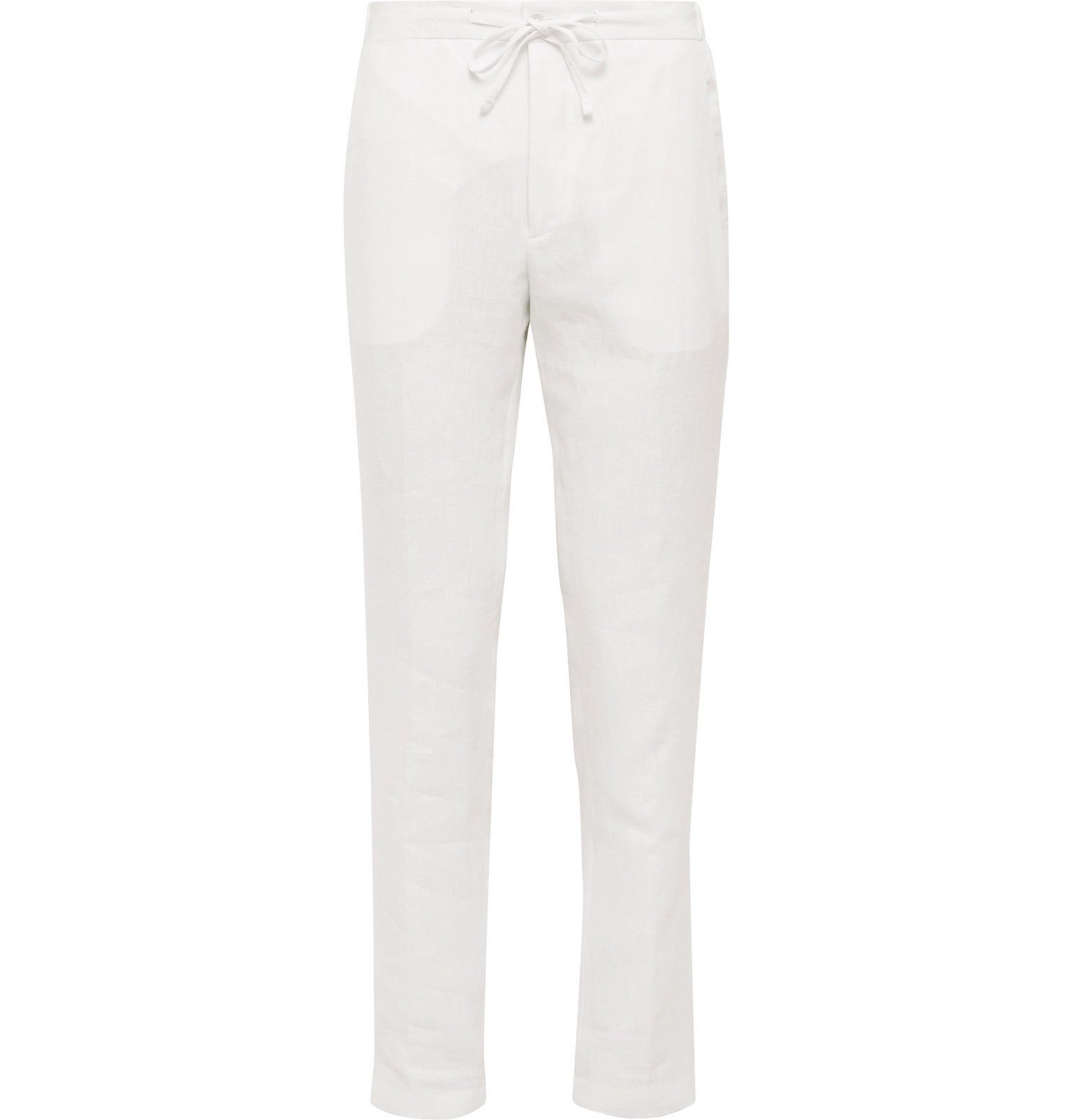 Photo: De Petrillo - Slim-Fit Linen Drawstring Trousers - White