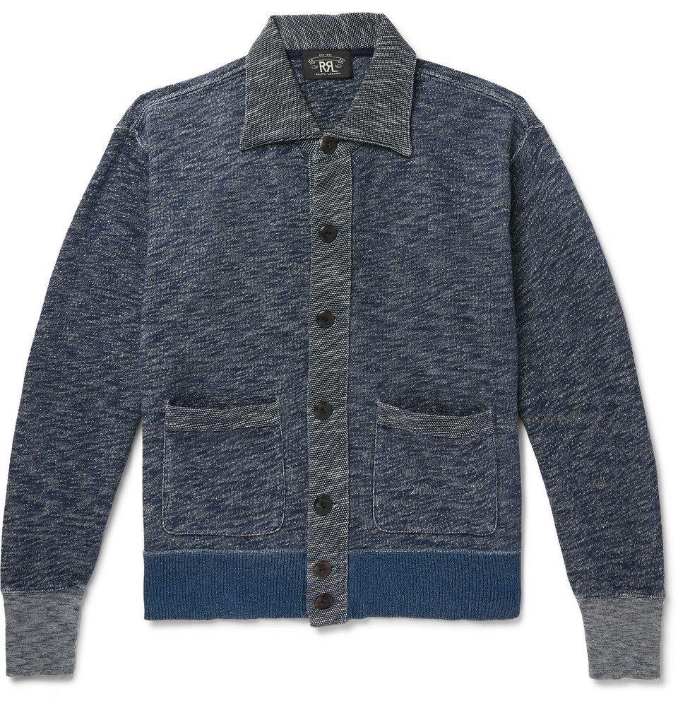 RRL - Mélange Cotton Cardigan - Men - Blue