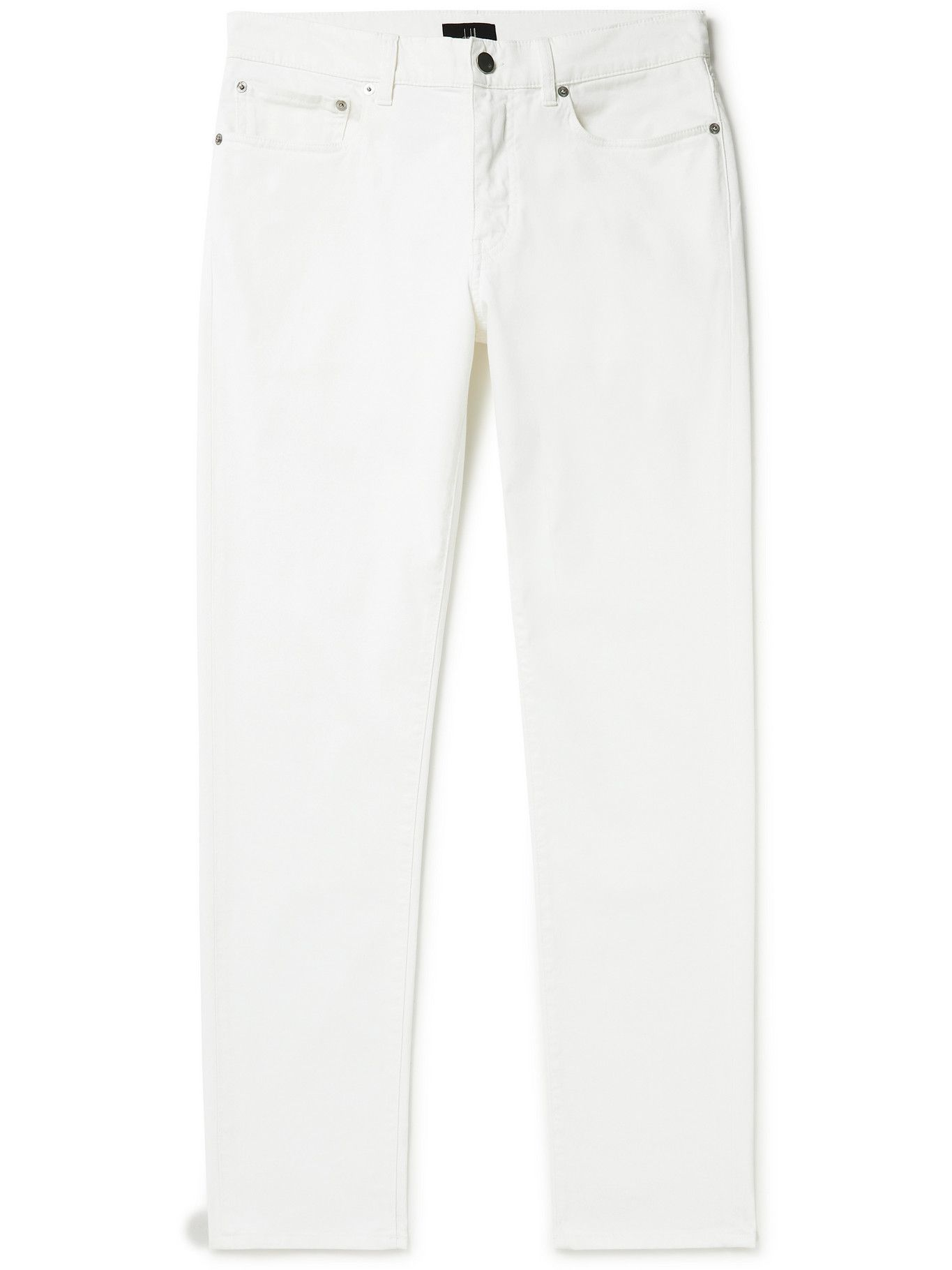 Photo: DUNHILL - Tapered Cotton-Blend Twill Trousers - White