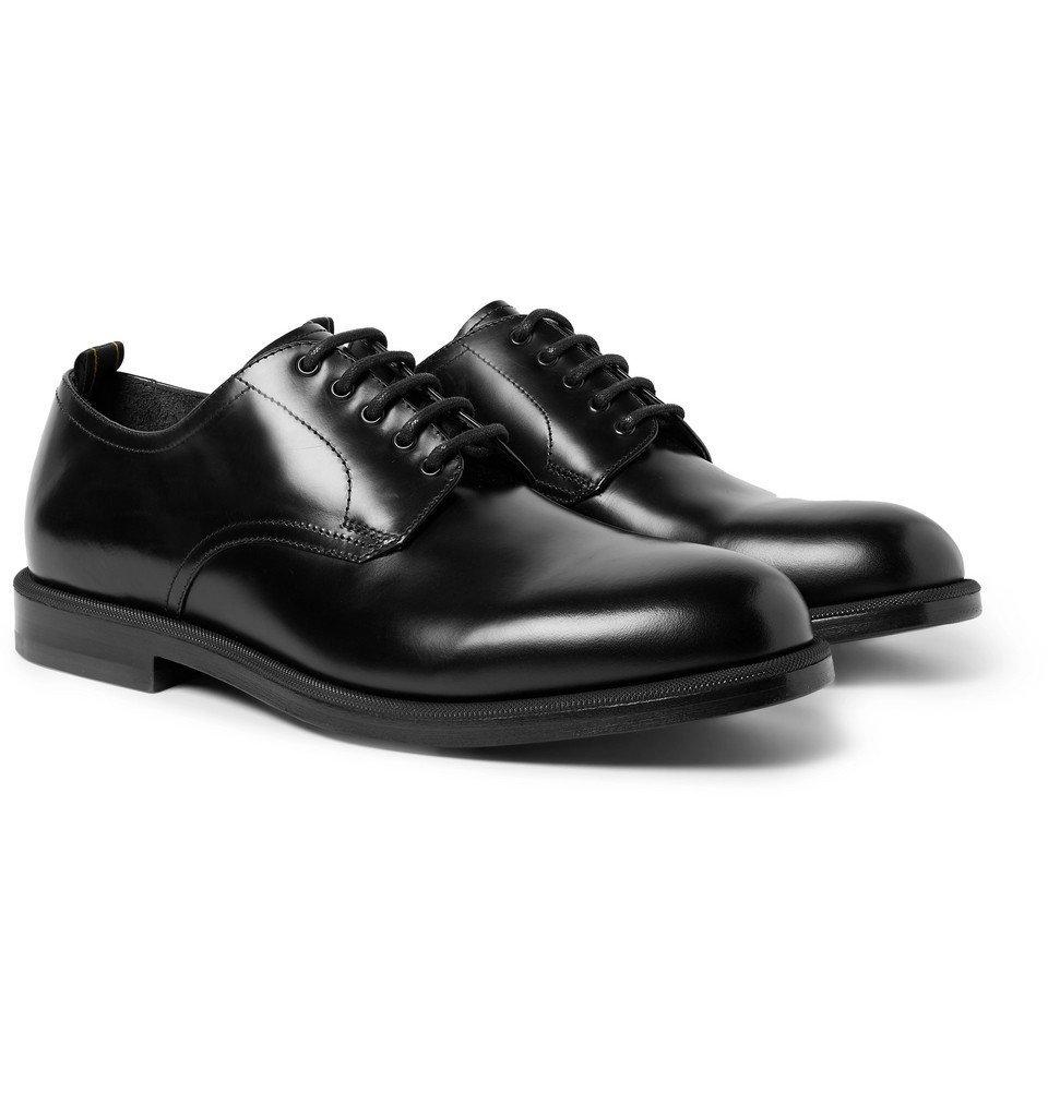 Dunhill - College Polished-Leather Derby Shoes - Men - Black