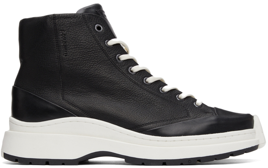 Photo: A-COLD-WALL* Leather High-Top Sneakers