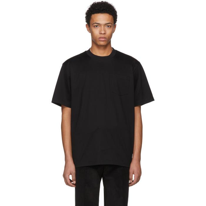 Sacai Black Basic Cotton T-Shirt