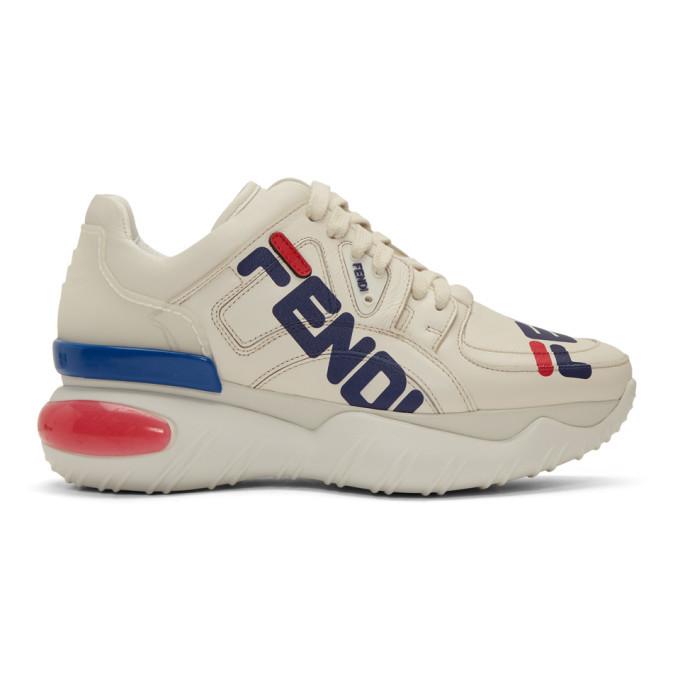 Photo: Fendi White Fendi Mania Chunky Sneakers