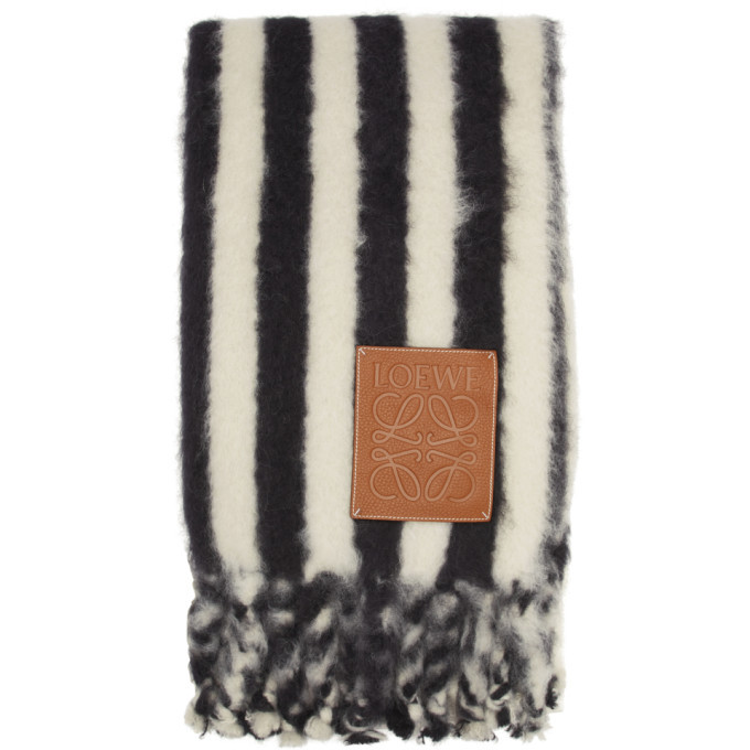 Photo: Loewe White and Black William De Morgan Mohair Scarf