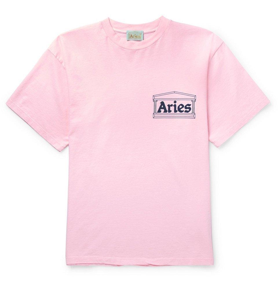Aries - Printed Cotton-Jersey T-Shirt - Men - Pink