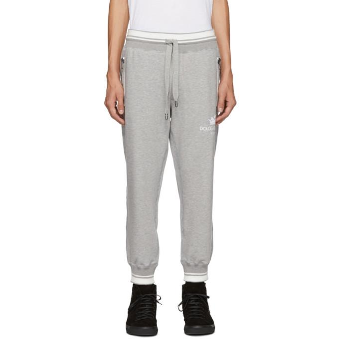 Photo: Dolce and Gabbana Grey Crown Logo Lounge Pants