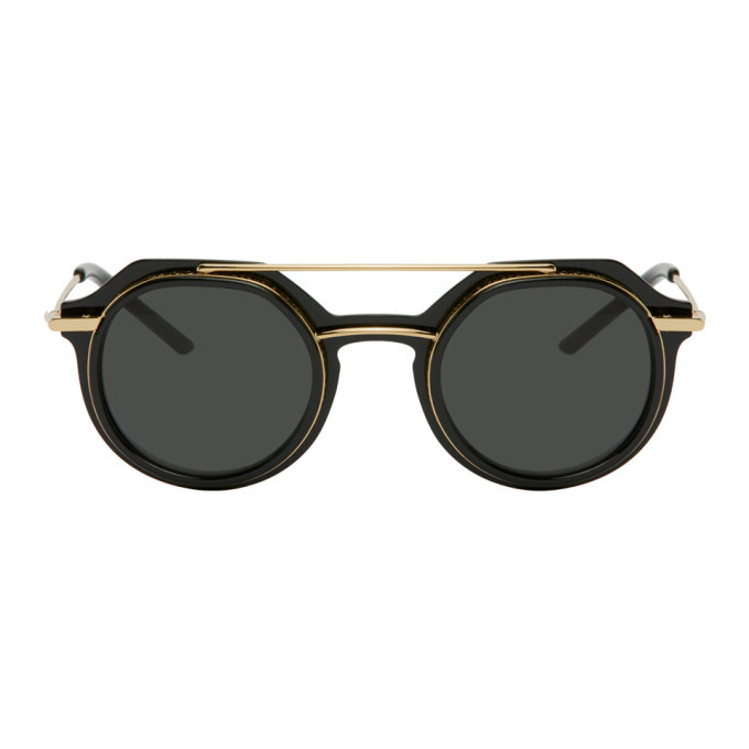 Photo: Dolce and Gabbana Black and Gold Slim DG 6136 Sunglasses