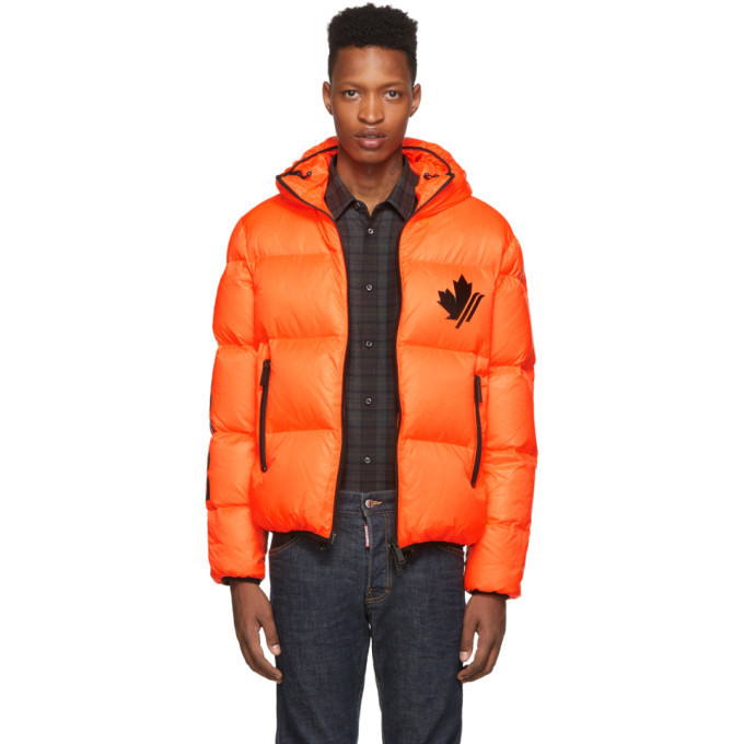 Photo: Dsquared2 Orange Down Ripstop Sports Jacket
