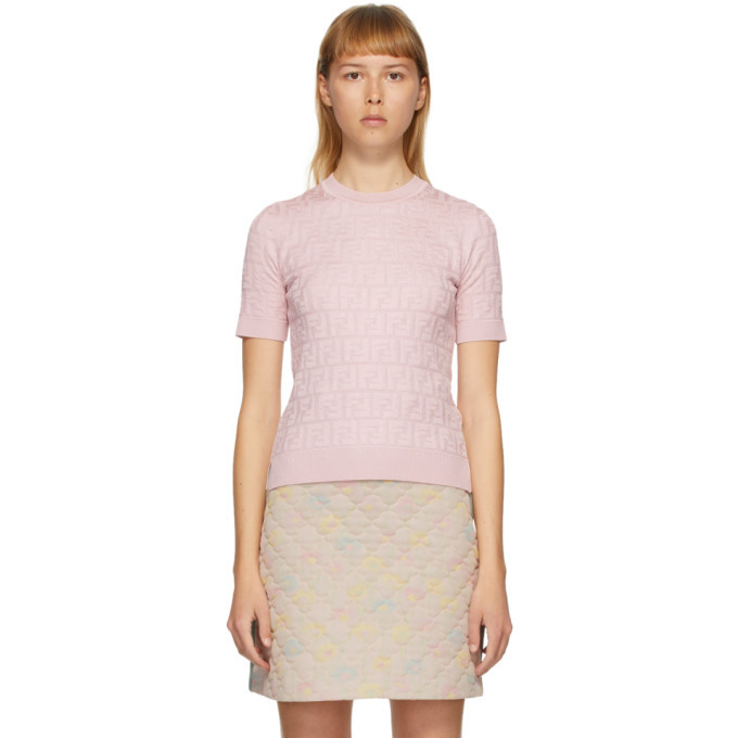 Photo: Fendi Pink Forever Fendi Short Sleeve Sweater