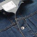 Sacai - Nylon-Panelled Distressed Denim Jacket - Blue