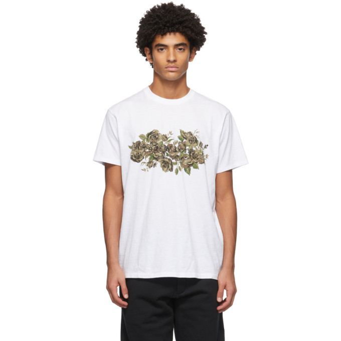 Photo: rag and bone White Floral Camo T-Shirt