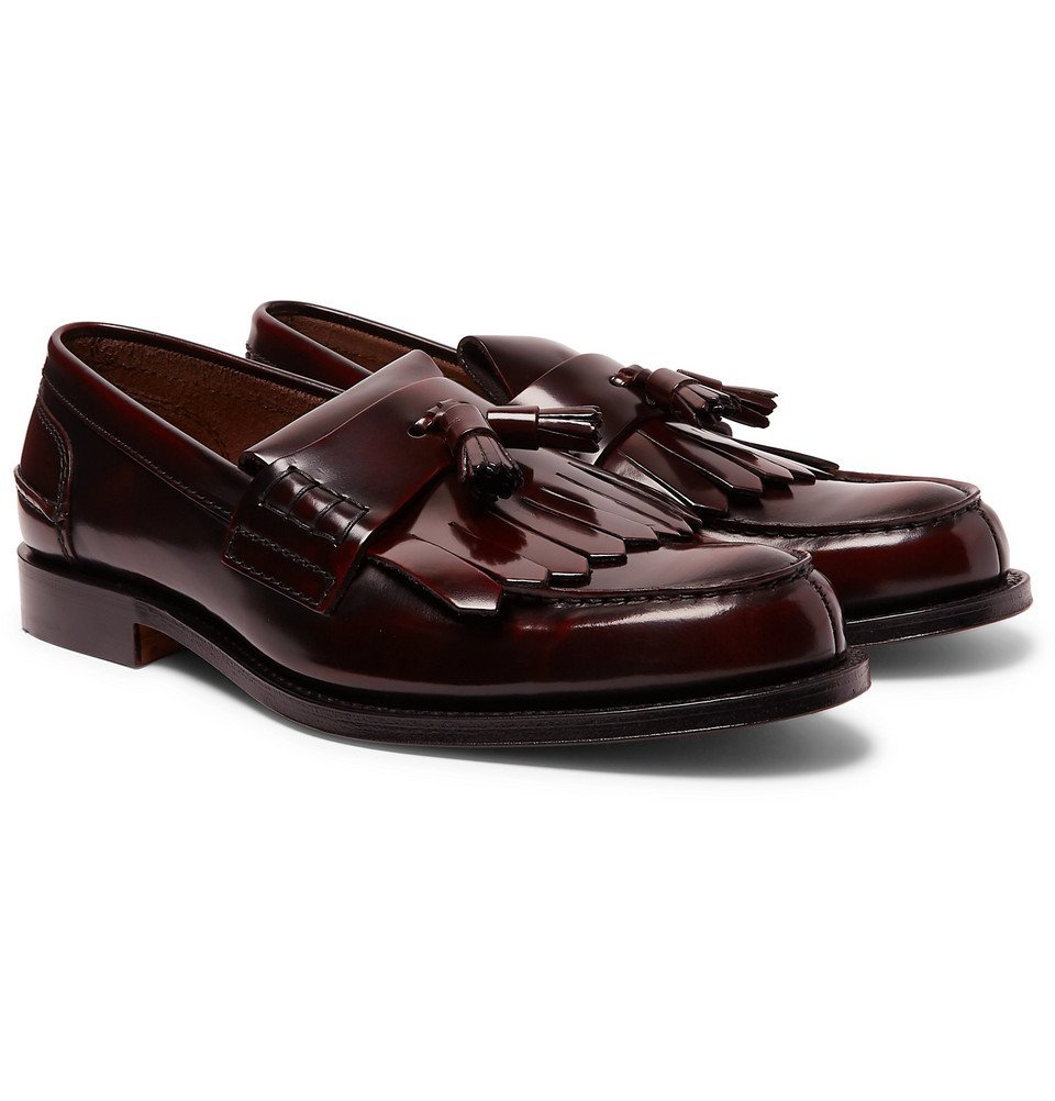 Photo: Church's - Oreham Polished-Leather Kiltie Loafers - Burgundy