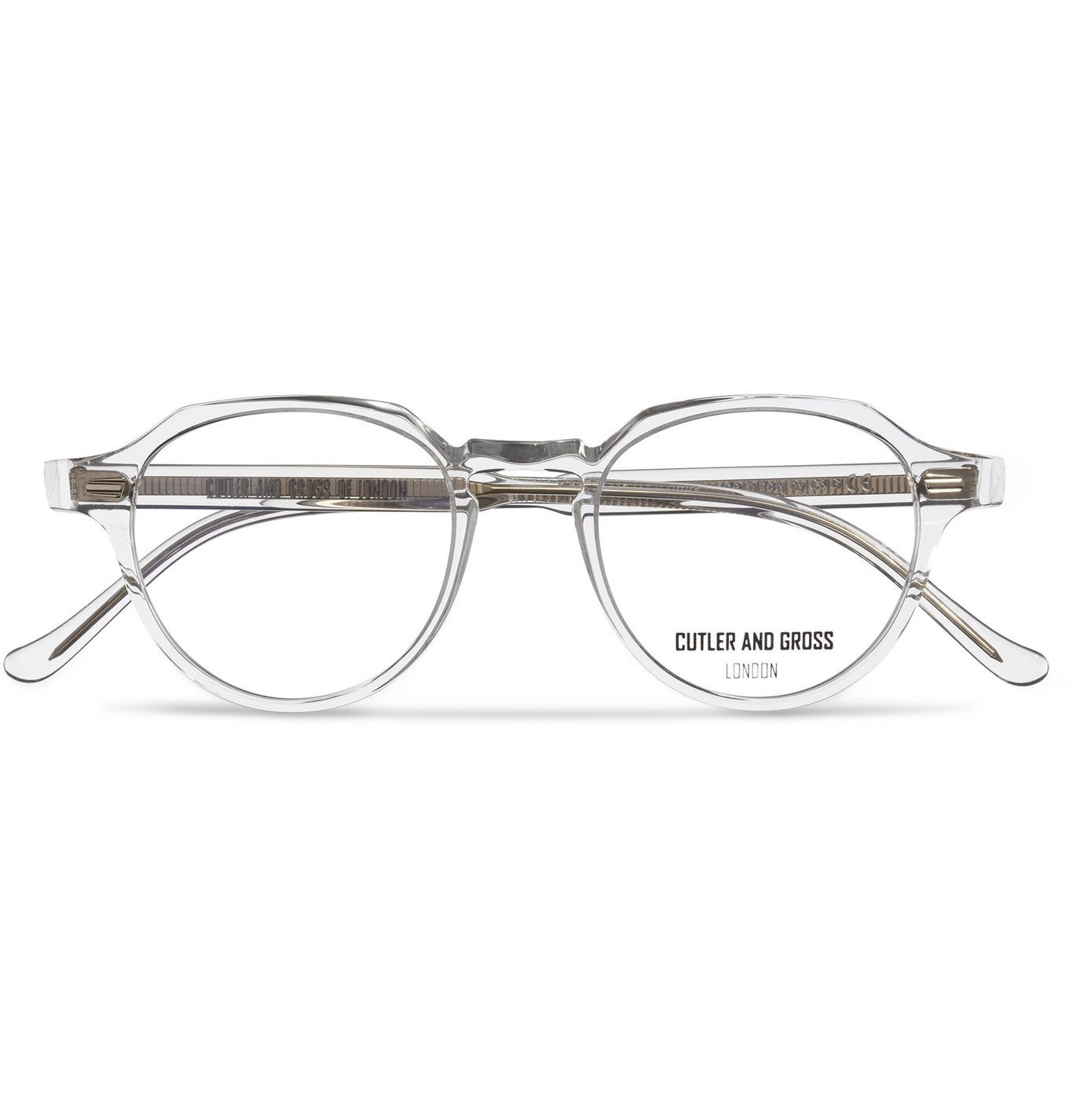 Photo: Cutler and Gross - Round-Frame Acetate Optical Glasses - White