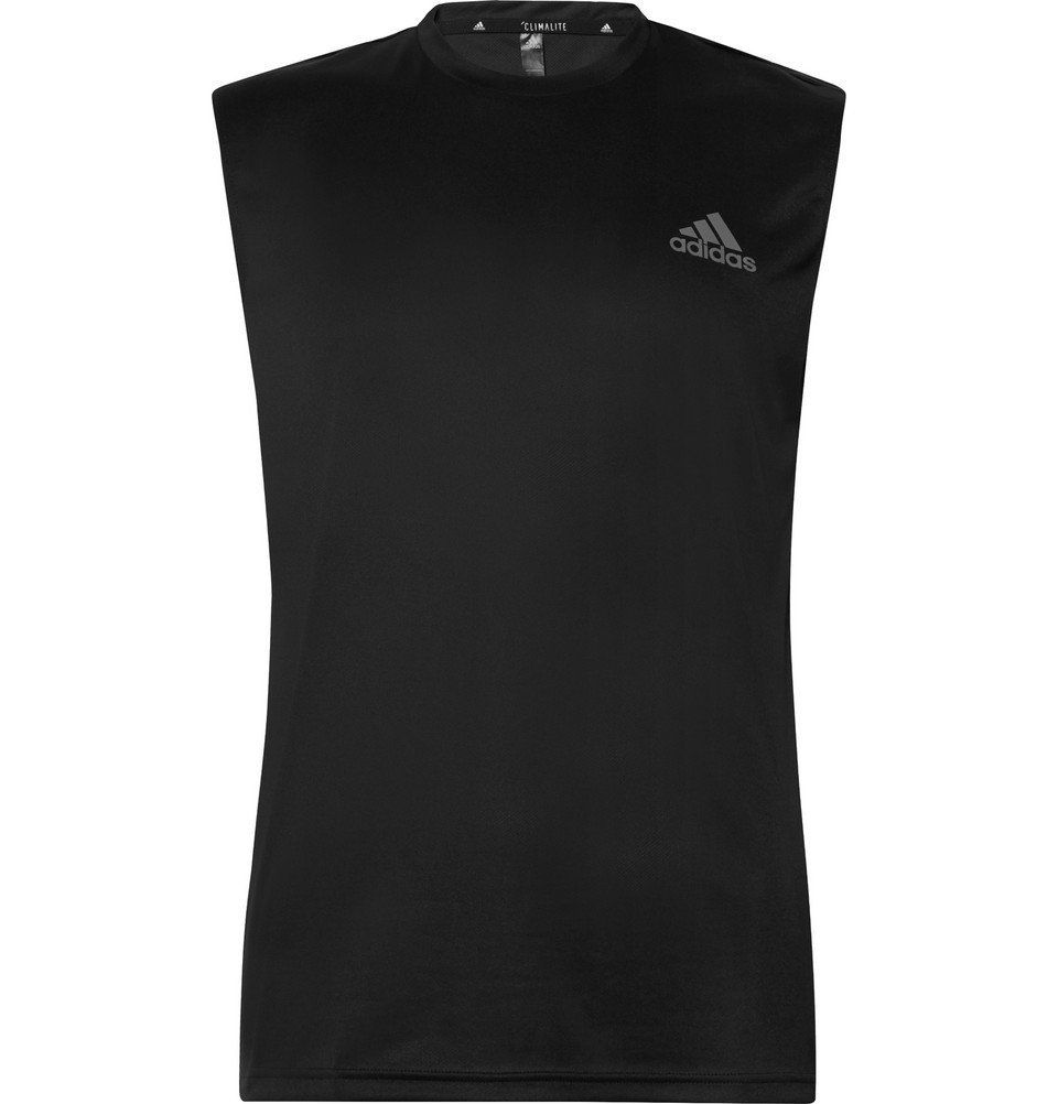 Photo: Adidas Sport - Essential Tech Climalite Tank Top - Black