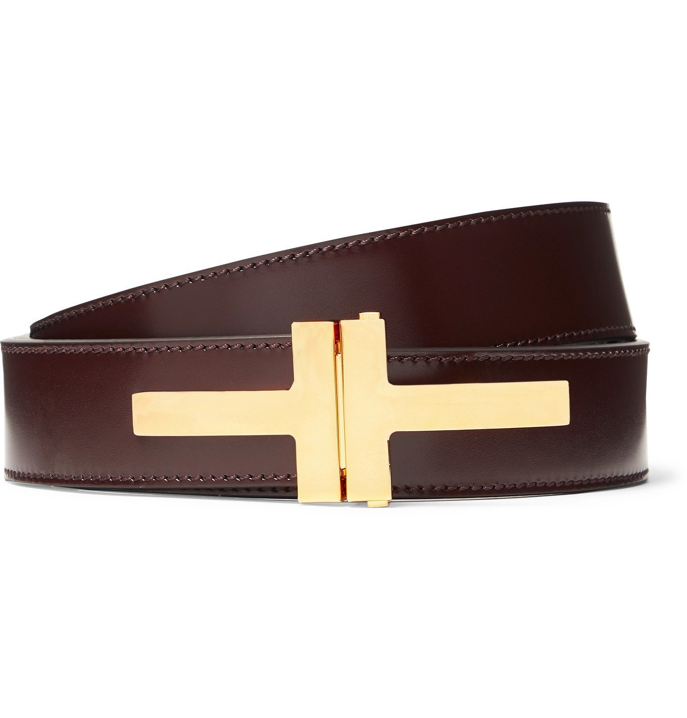 Photo: TOM FORD - 3cm Leather Belt - Brown