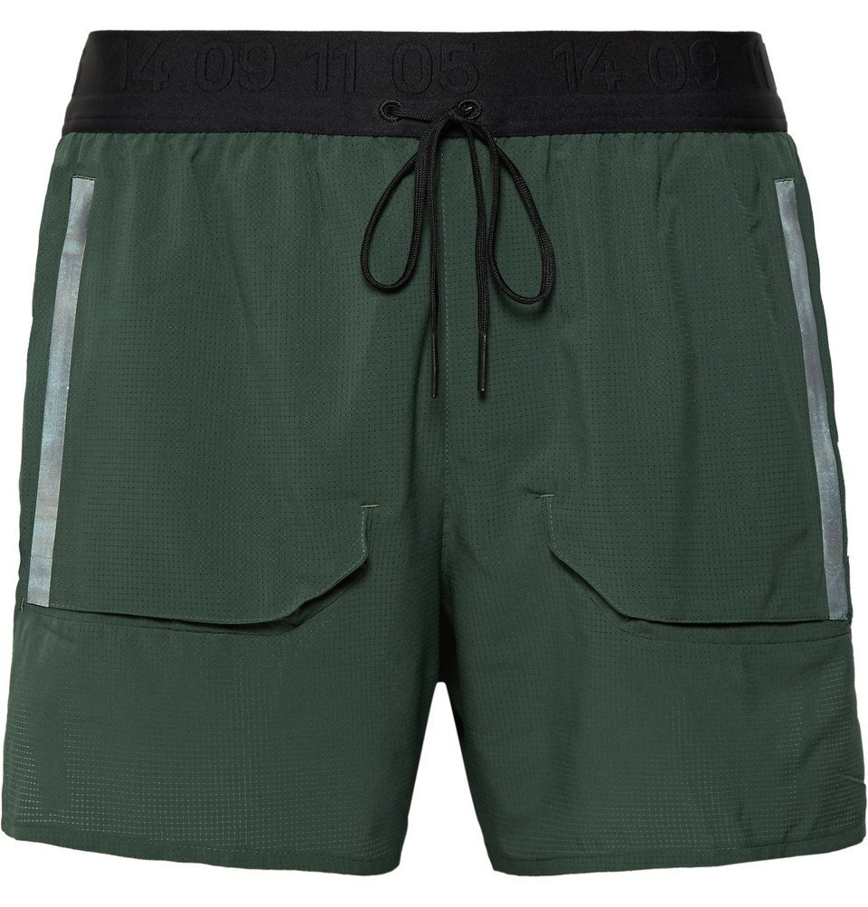 Nike Running - Tech Pack Stretch-Mesh Drawstring Running Shorts - Dark green