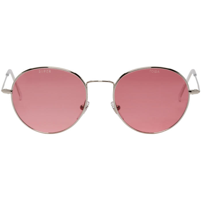 Photo: Gosha Rubchinskiy Silver and Pink Super Edition Wire Sunglasses