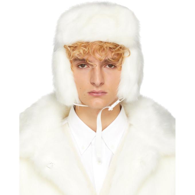 Landlord White Faux-Fur Trapper Hat Landlord 80d2d4e7dd8