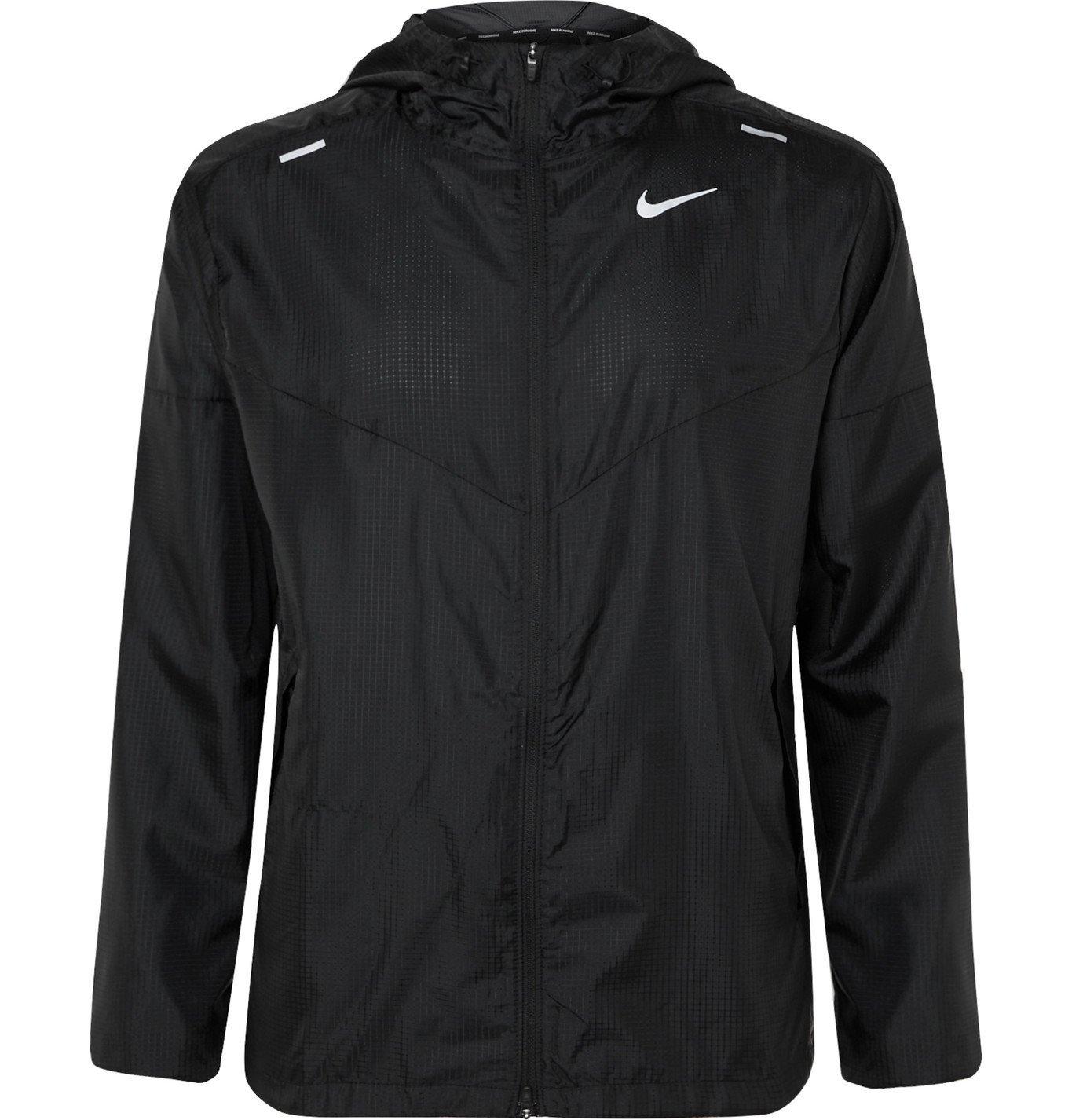 Nike Running - Windrunner Logo-Print Shell Hooded Jacket - Black