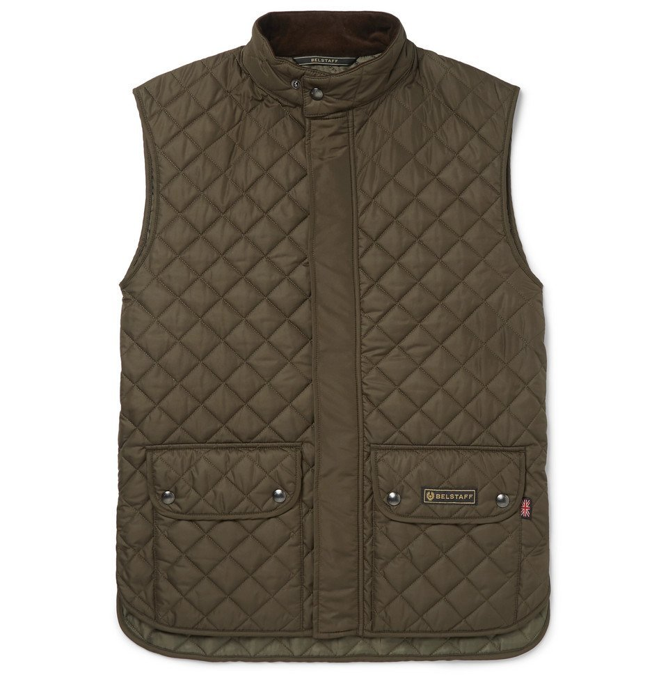 Photo: Belstaff - Slim-Fit Quilted Shell Gilet - Green