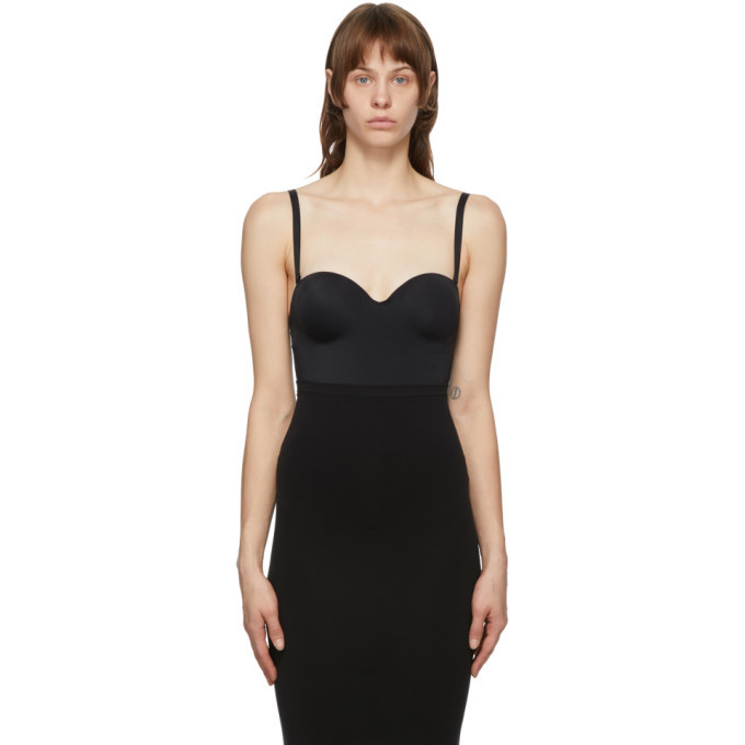 Photo: Wolford Black Mat De Luxe Forming String Bodysuit