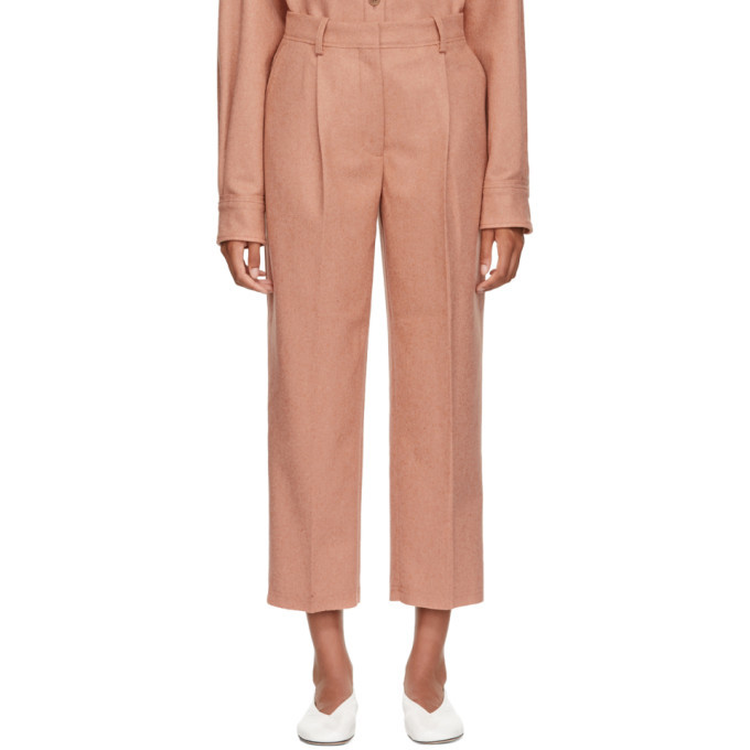 Photo: Acne Studios Pink Wool and Cashmere Flannel Trousers