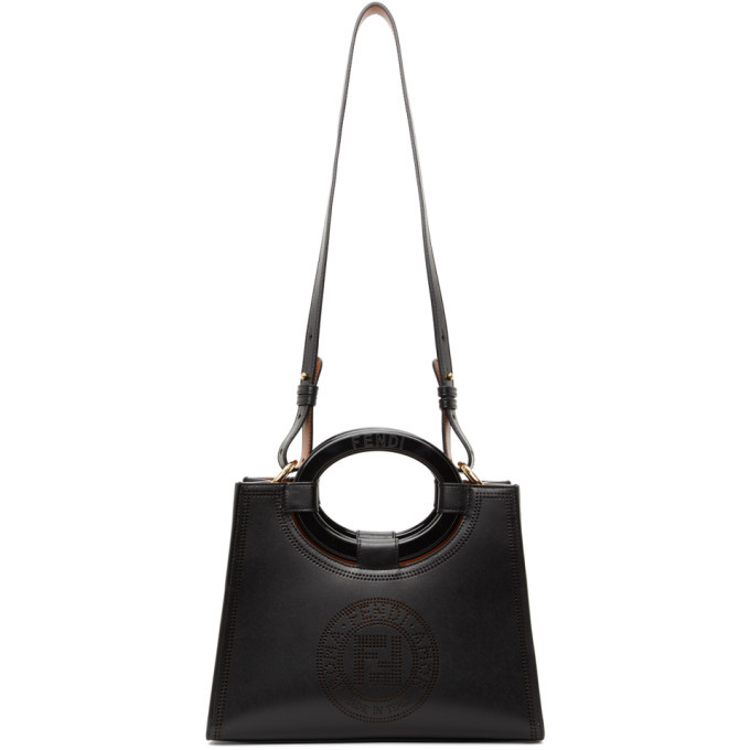 Photo: Fendi Black Perforated Runway Shopper Tote
