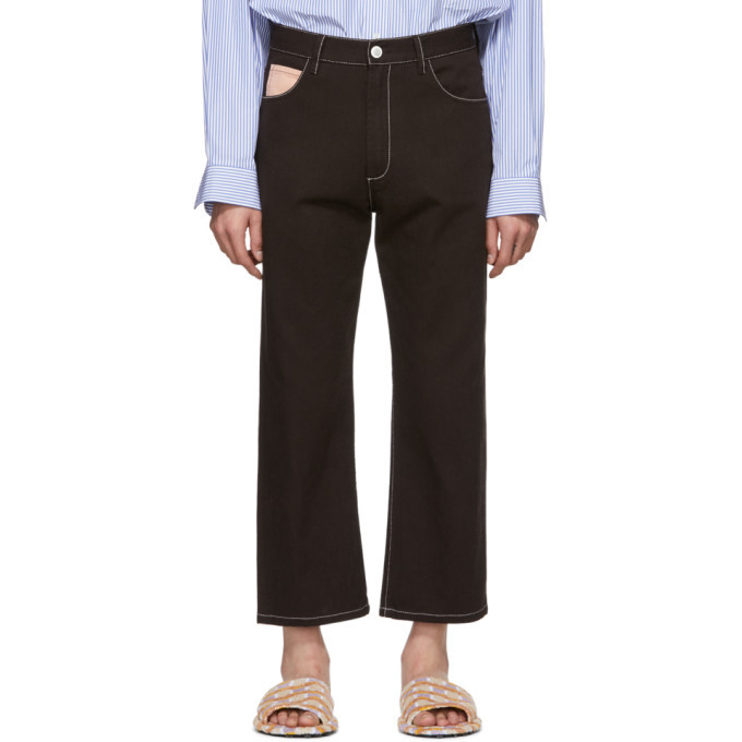 Photo: Marni Brown Contrast Stitching Jeans