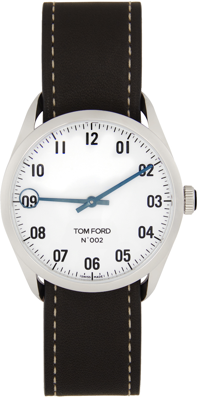 Photo: TOM FORD Black Matte Stainless Steel 001 Watch