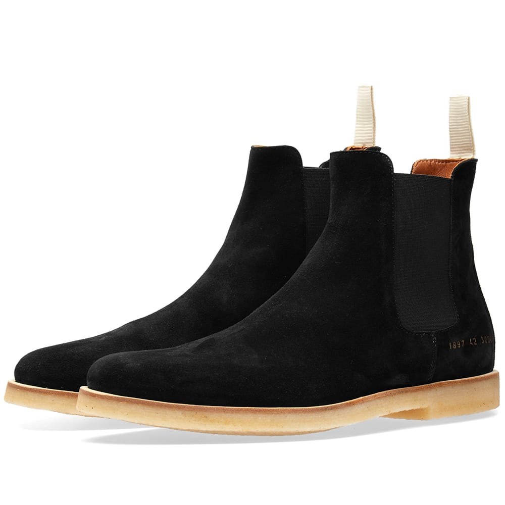 Photo: Common Projects Chelsea Boot Black