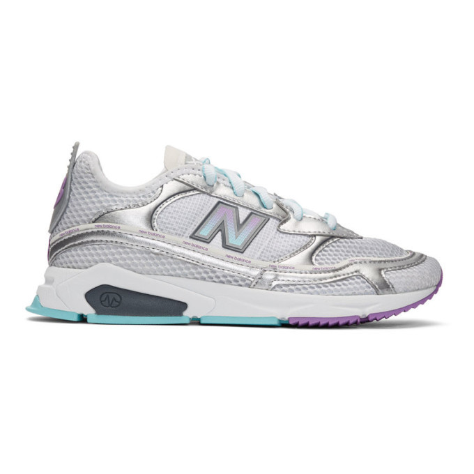 Photo: New Balance Silver X-Racer Sneakers