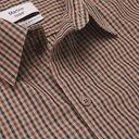 Martine Rose - Logo-Embroidered Checked Cotton-Blend Poplin Shirt - Brown