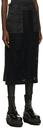 Sacai Black Embroidered Message Skirt