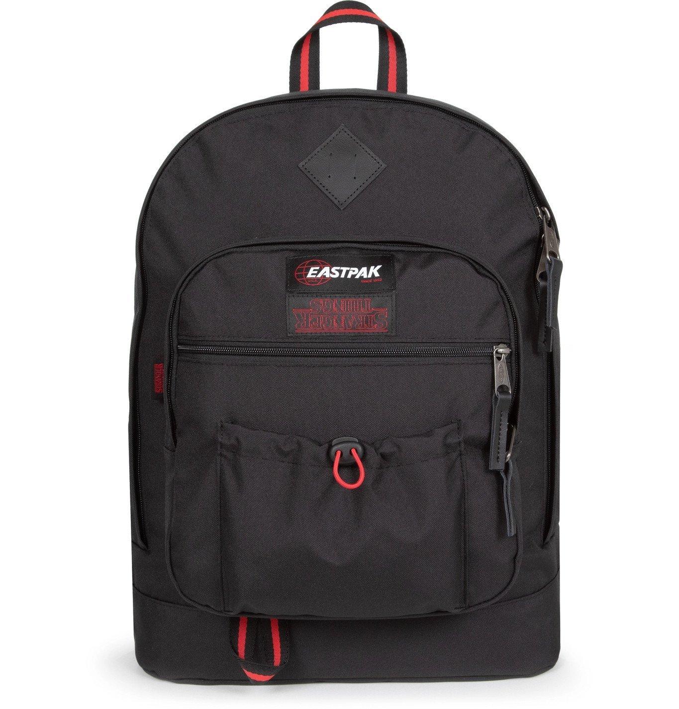 Photo: Eastpak - Stranger Things Logo-Appliquéd Canvas Backpack - Black