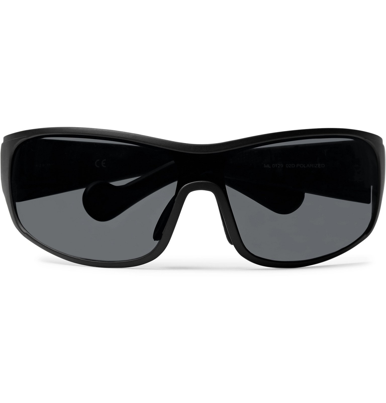 Moncler - Wrap-Frame Polarised Acetate Sunglasses - Black