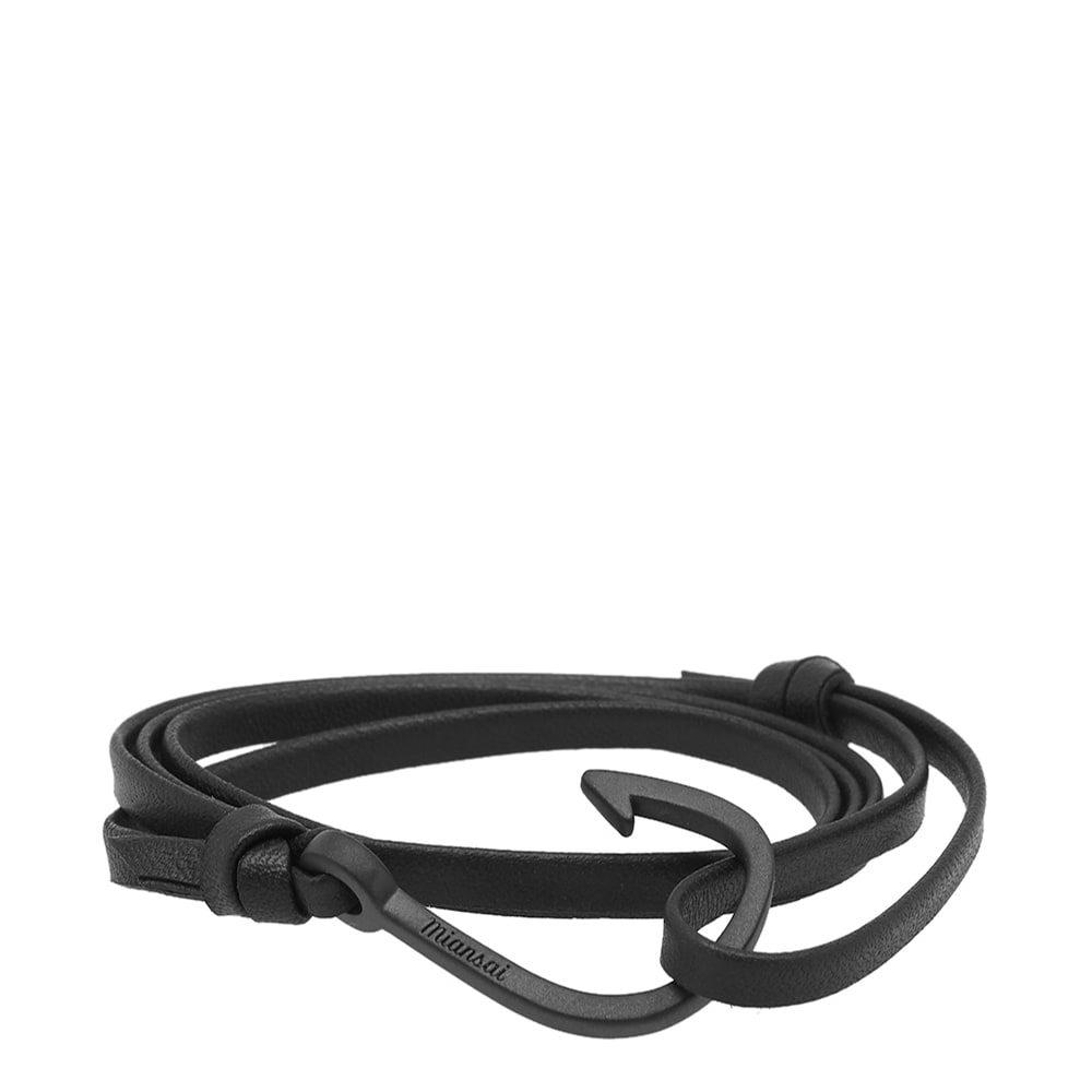 Photo: Miansai Black Hook Leather Bracelet