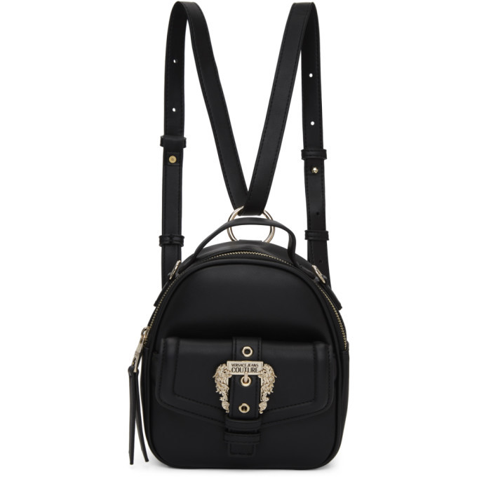 Photo: Versace Jeans Couture Black Small Vintage Buckle Backpack