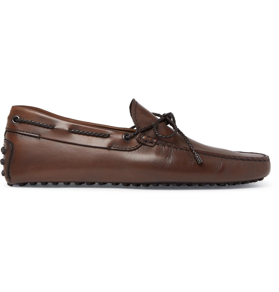 Tod's - Gommino Leather Driving Shoes - Men - Chocolate