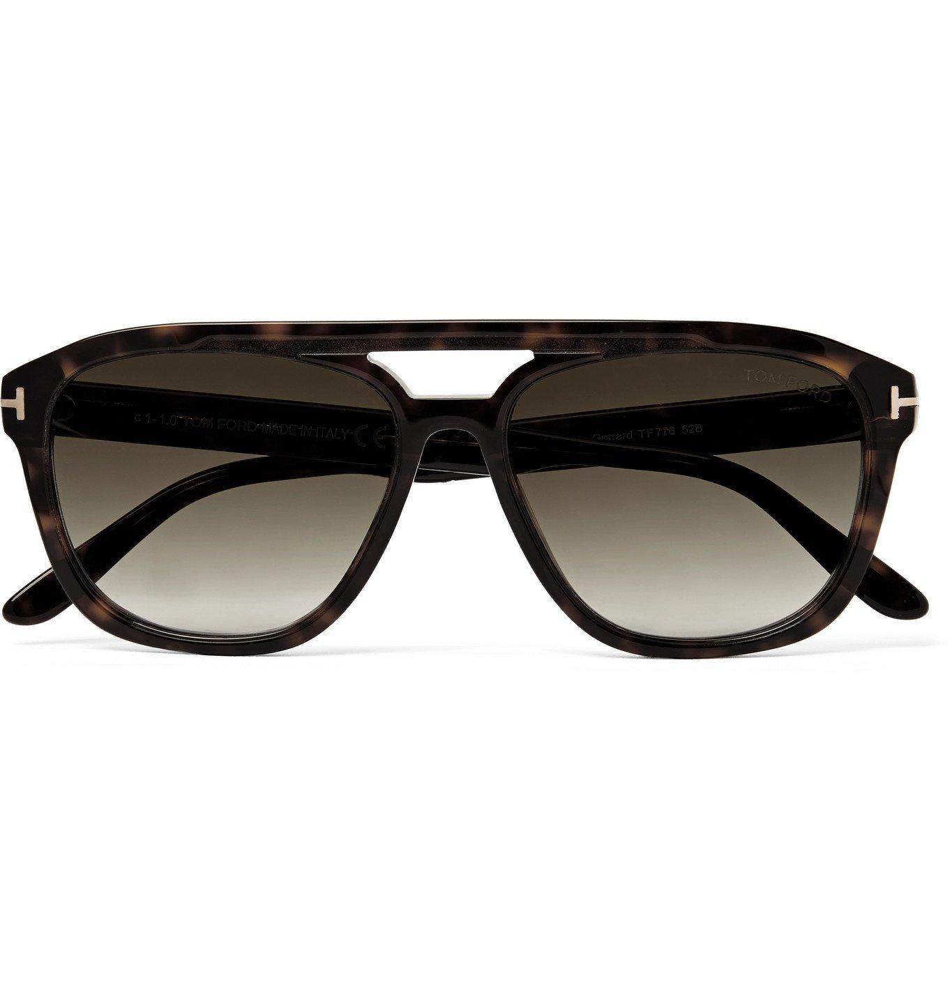Photo: TOM FORD - Aviator-Style Tortoiseshell Acetate Sunglasses - Tortoiseshell