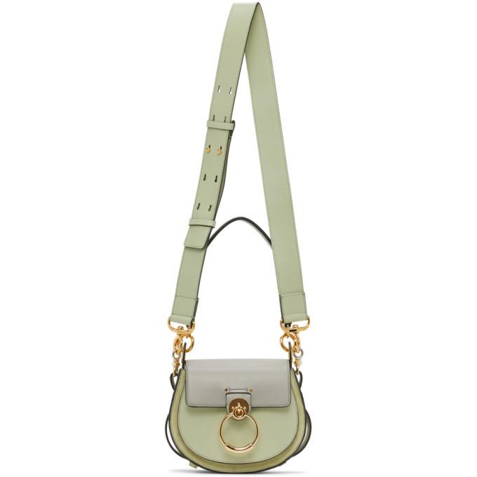 Photo: Chloe Grey and Green Small Tess Bag