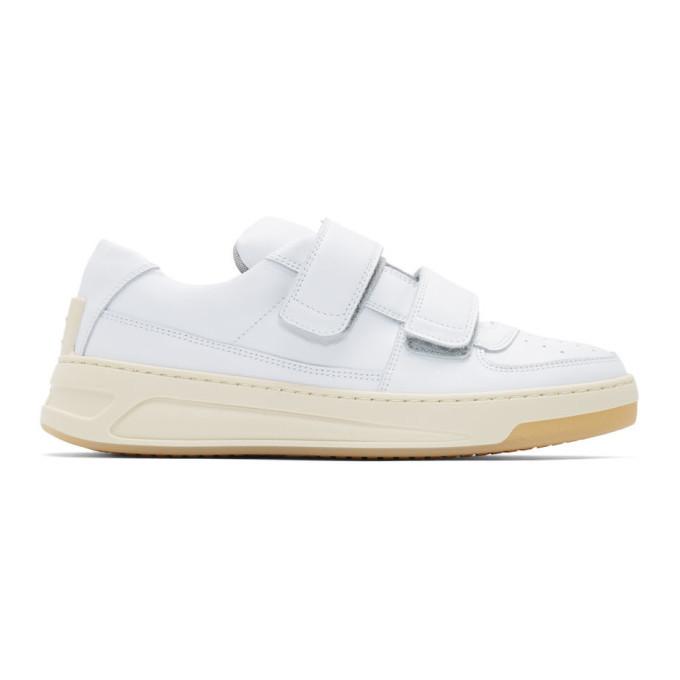 Photo: Acne Studios White Perey Strap Sneakers