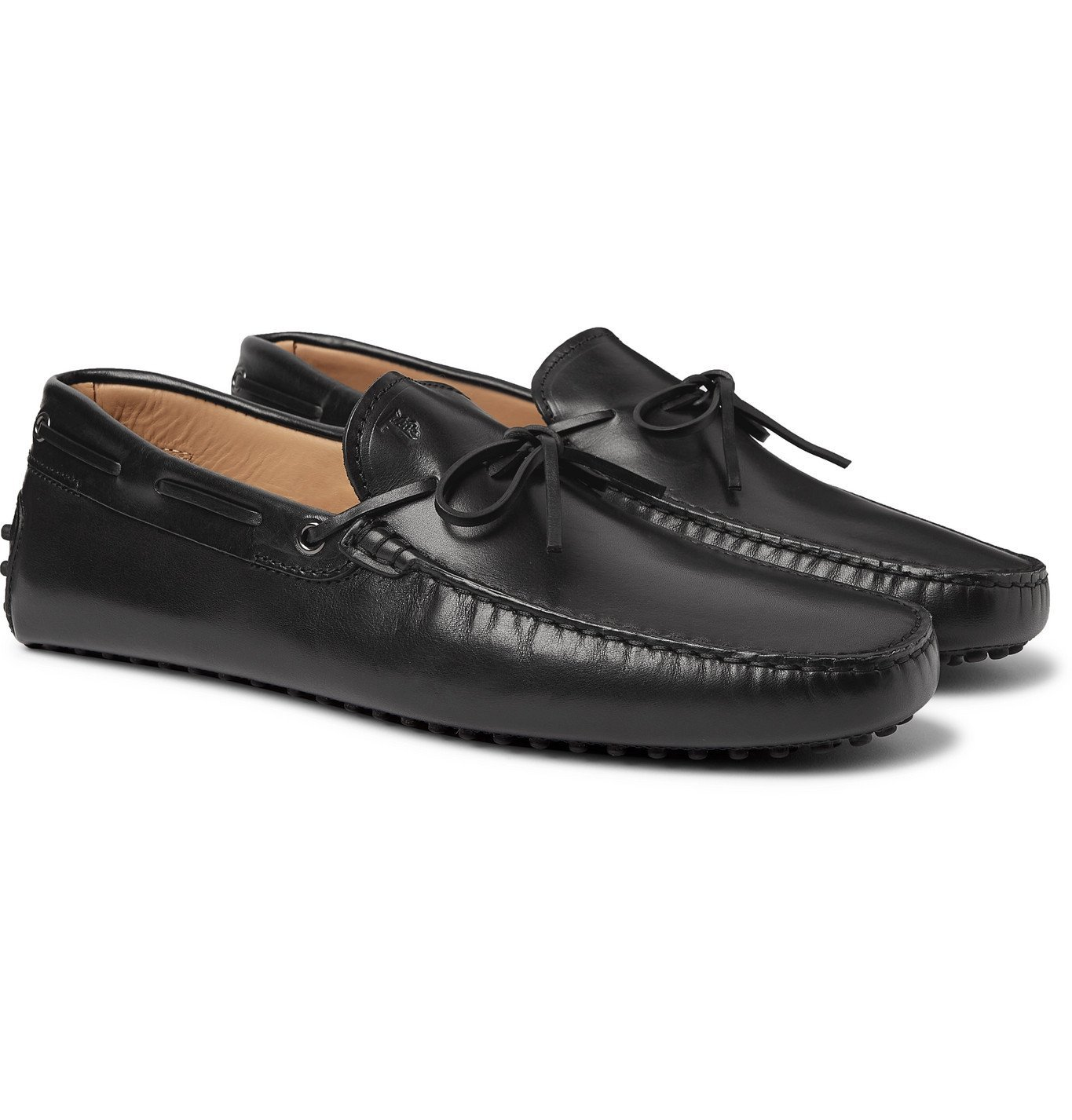 Photo: TOD'S - Gommino Leather Driving Shoes - Black
