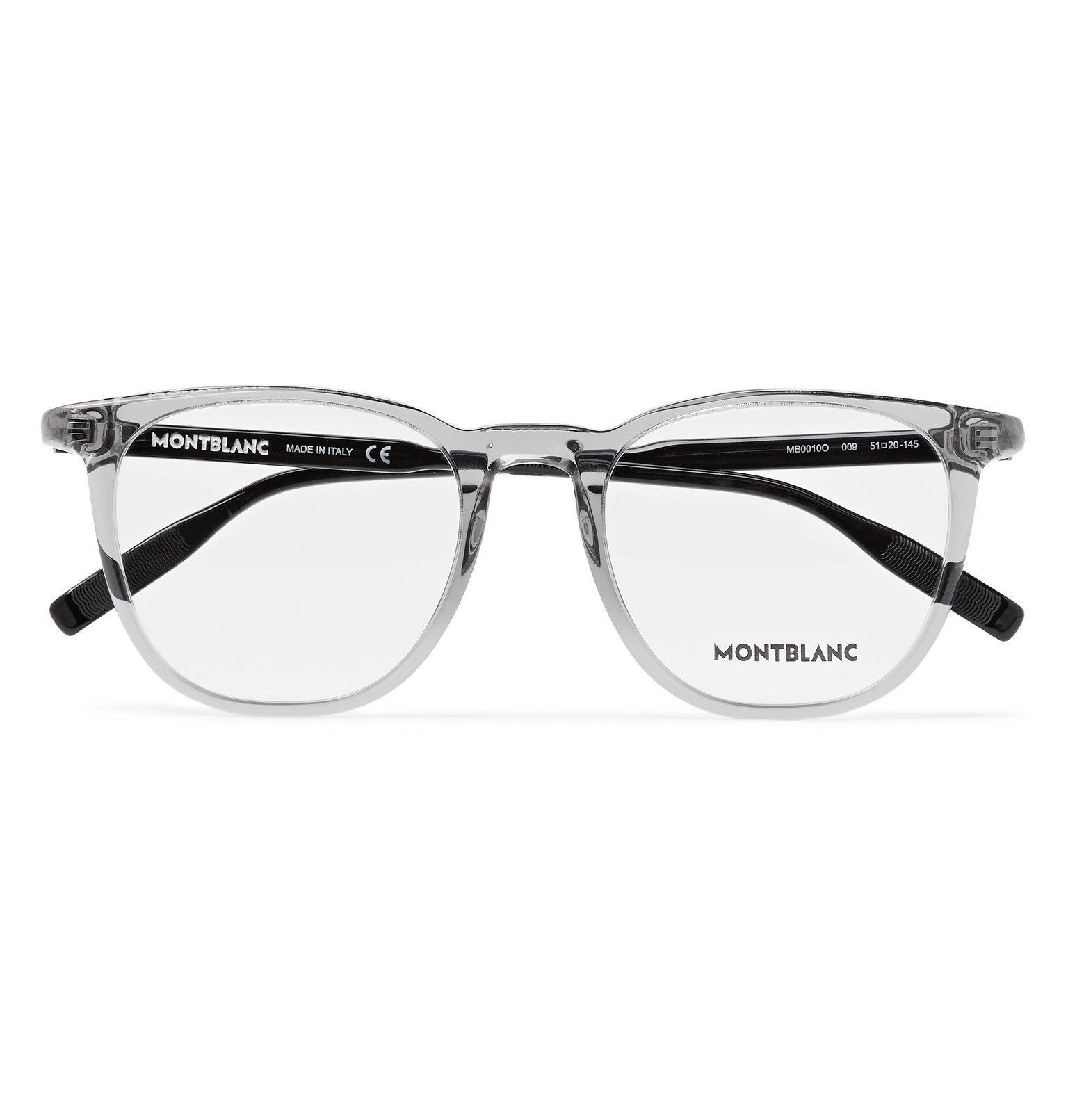 Photo: Montblanc - Square-Frame Acetate Optical Glasses - Gray