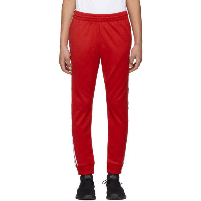 Photo: adidas Originals Red SST Track Pants