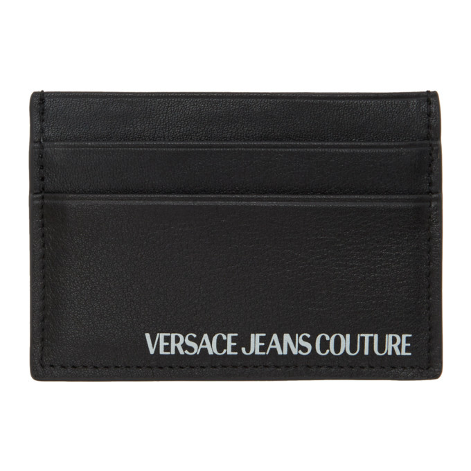 Photo: Versace Jeans Couture Black Logo Card Holder