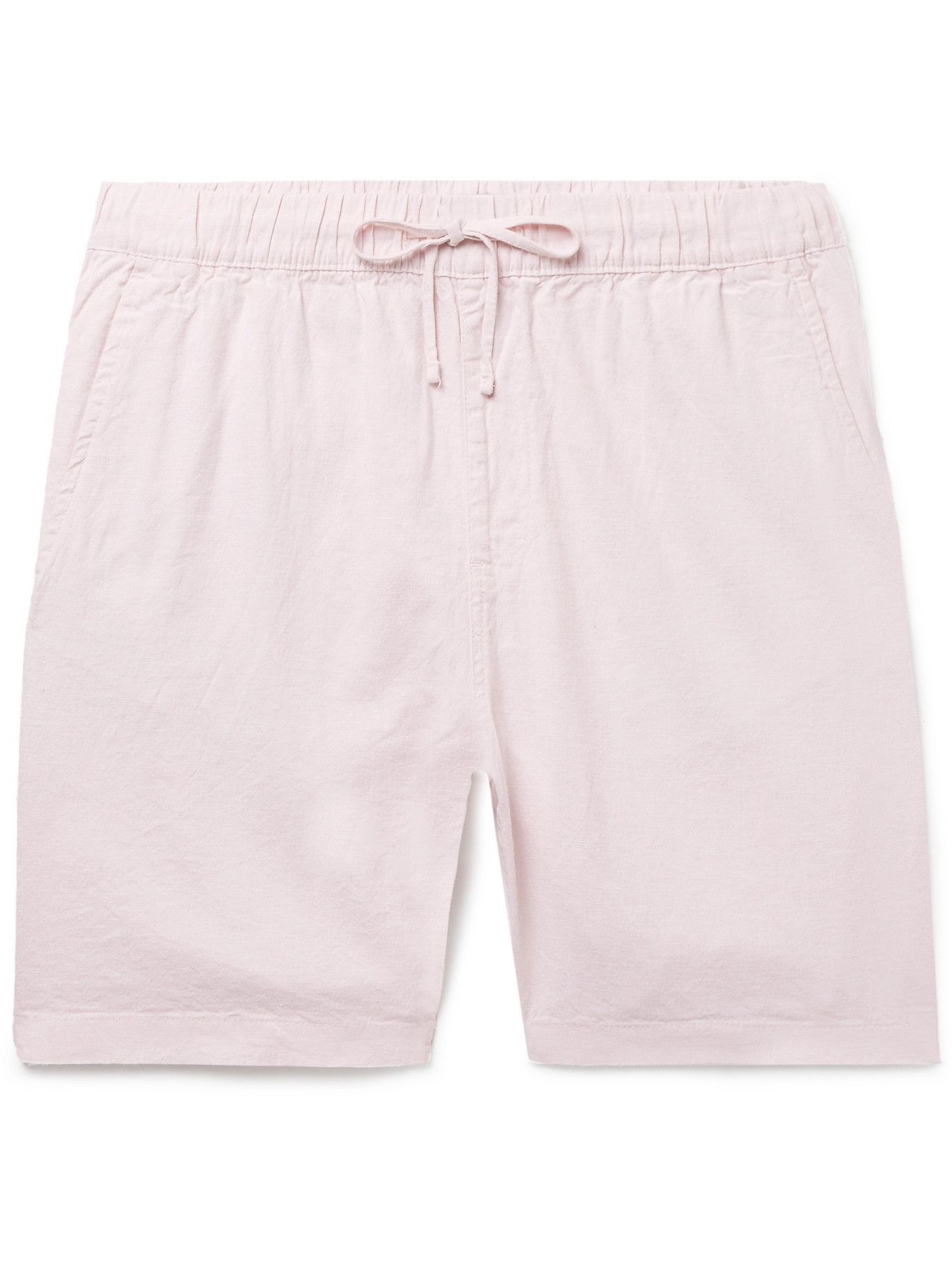 Photo: Onia - Linen-Blend Drawstring Shorts - Pink