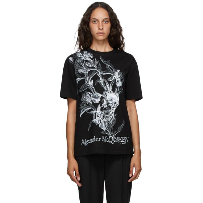 Photo: Alexander McQueen Black Iris Skull T-Shirt