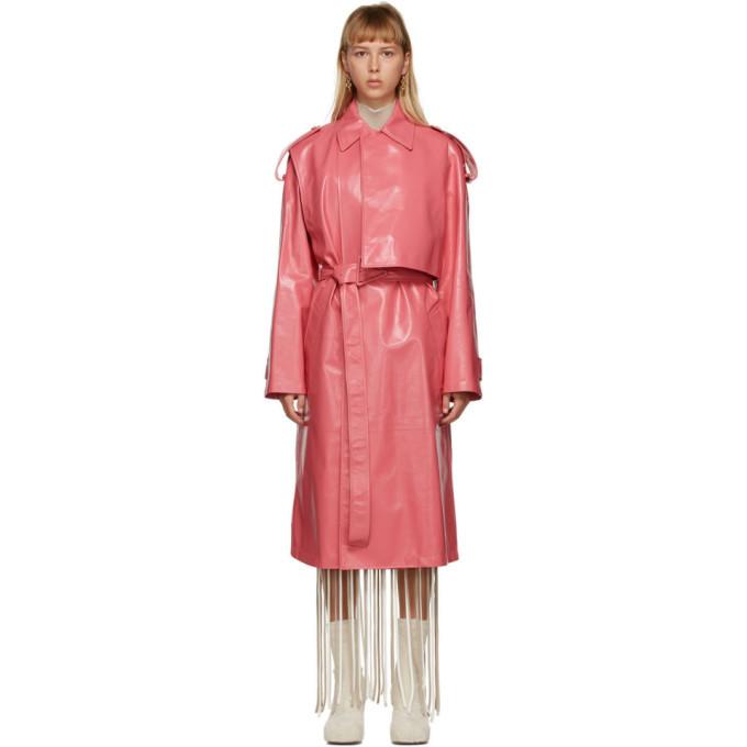 Photo: Bottega Veneta Pink Shiny Trench Coat